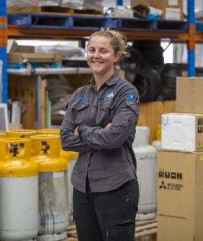 KEEPING IT COOL: Natasha Kirchner is TAFE Queensland's Refrigeration and Air Conditioning Apprentice of the Year.