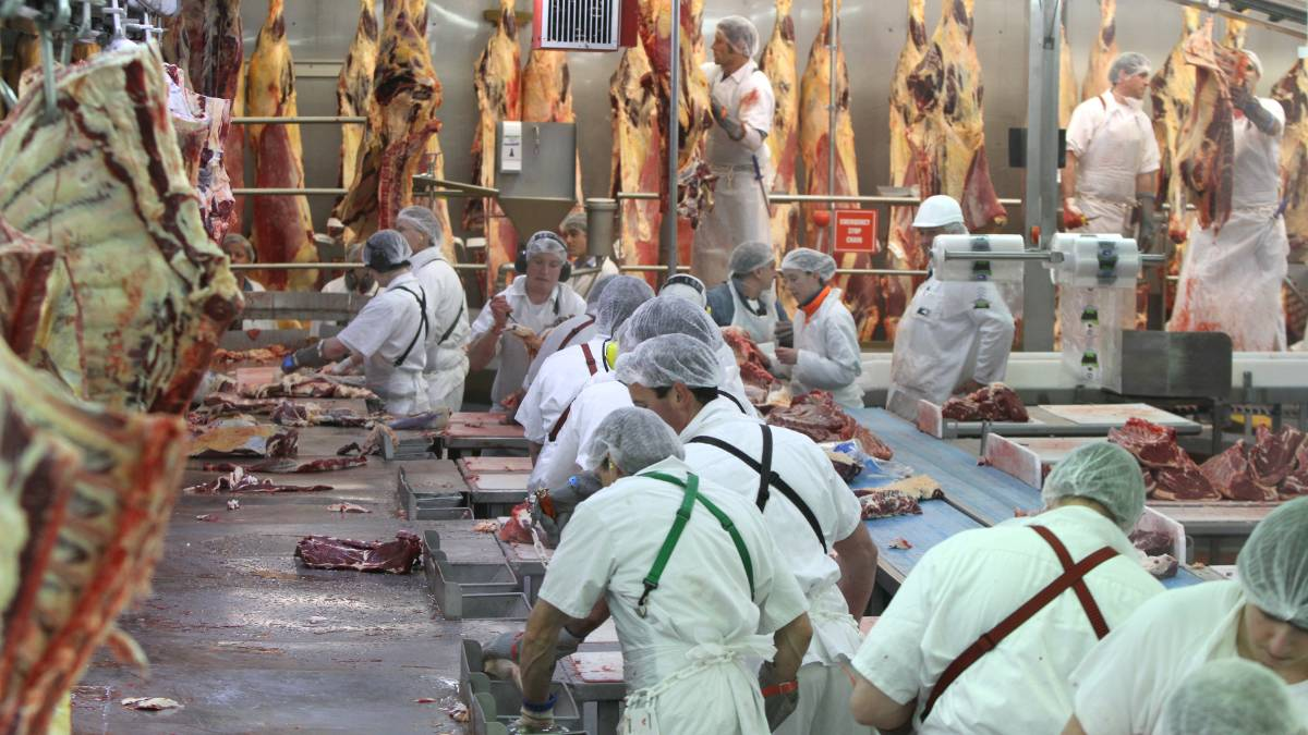 Greenham's meat processing plant at Smithton is one of the biggest employers in the region. Picture: File
