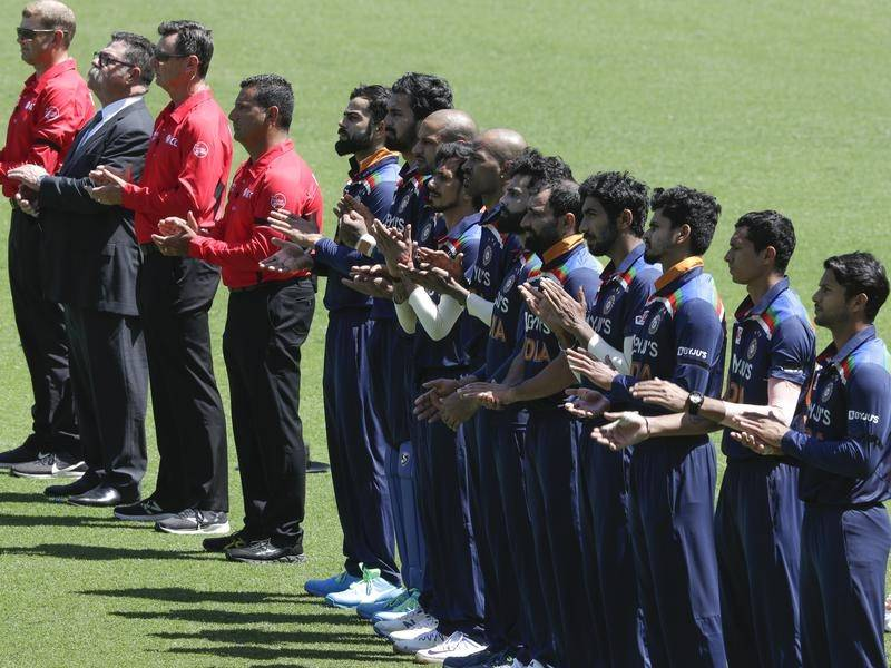 India have joined Australia in a pre-game tribute to Dean Jones who died in September, aged 59.